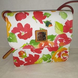 DOONEY AND BOURKE WHITE GARDEN ROSE CROSSBODY